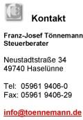 Kontakt Steuerberater Tönnemann